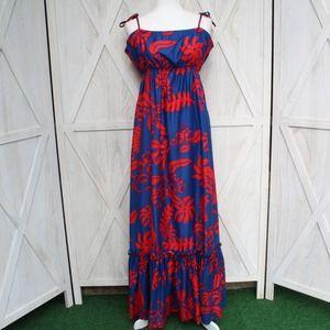 Hilo Hattie Hawaiian Tropical Maxi Dress L